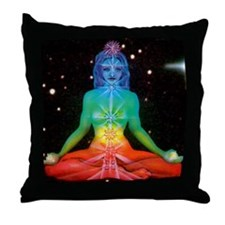 CHAKRAS 3 Throw Pillow