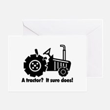 My Tractor Is A Chick Magnet Greeting Card