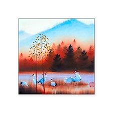 """Oriental landscape Square Sticker 3"""" x 3"""""""