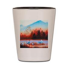 Oriental landscape Shot Glass