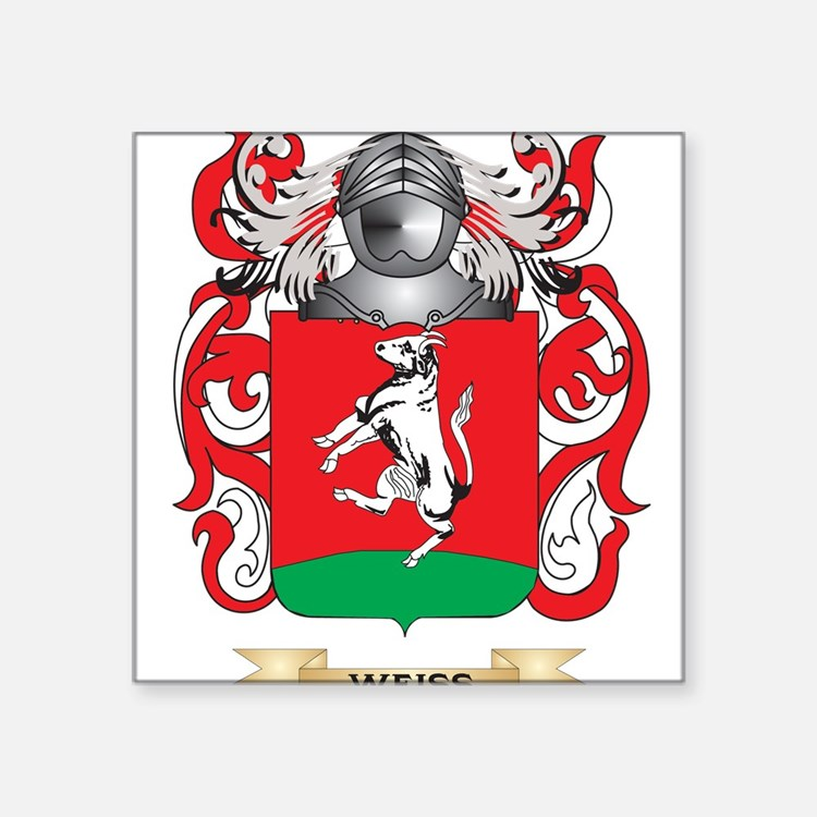 Weiss Family Crest (Coat of Arms) Sticker