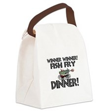 Winner Winner Fish Fry Dinner Canvas Lunch Bag