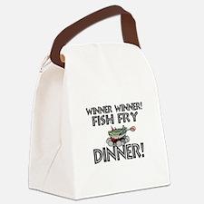 Winner Winner Fish Fry Dinner Canvas Lunch Bag