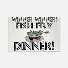 Winner Winner Fish Fry Dinner Rectangle Magnet