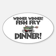 Winner Winner Fish Fry Dinner Decal