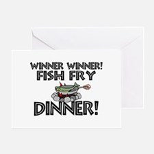 Winner Winner Fish Fry Dinner Greeting Card