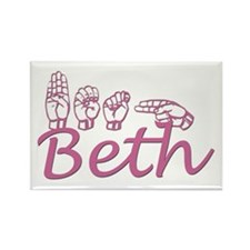 Beth Rectangle Magnet
