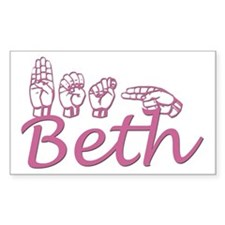 Beth Rectangle Decal