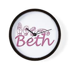 Beth Wall Clock