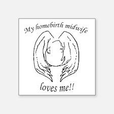 "NHBS Loves Square Sticker 3"" x 3"""