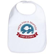 Fish And Chips Seafood Logo Bib