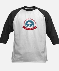 Fish And Chips Seafood Logo Tee