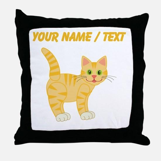 Custom Orange Cat Throw Pillow
