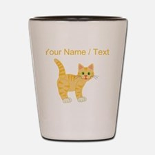 Custom Orange Cat Shot Glass