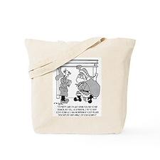 Bad Egg Nog Leads to Santa Sighting Tote Bag