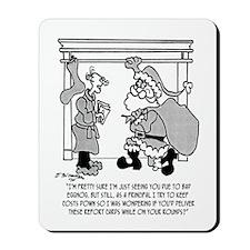 Bad Egg Nog Leads to Santa Sighting Mousepad