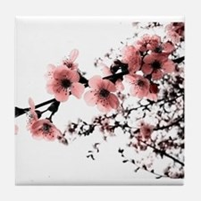 Cherry Blossoms Tile Coaster