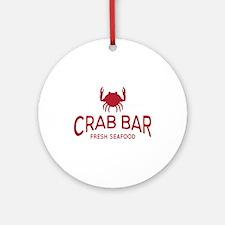 Crab Bar Fresh Seafood Logo Ornament (Round)