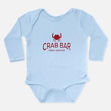 Crab Bar Fresh Seafood Logo Long Sleeve Infant Bod