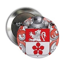 """Weldon Family Crest (Coat of Arms) 2.25"""" Button"""