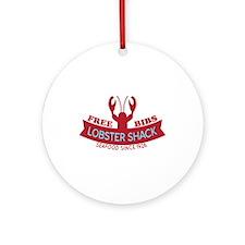 Lobster Shack Fresh Seafood Logo Ornament (Round)