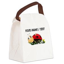 Custom Cartoon Ladybug Canvas Lunch Bag