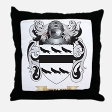 Welsh Family Crest (Coat of Arms) Throw Pillow