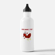Custom Cartoon Fire Ant Sports Water Bottle