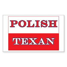 Polish Texan Poland Flag Rectangle Decal