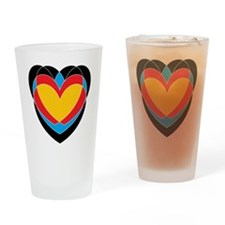 Archery Hearts Drinking Glass