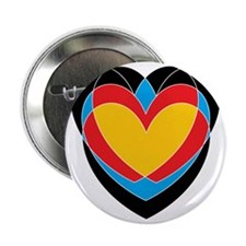 "Archery Hearts 2.25"" Button"