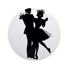 Ballroom Dancing Ornament (Round)