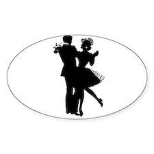 Ballroom Dancing Oval Decal