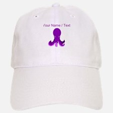 Custom Purple Octopus Baseball Baseball Cap