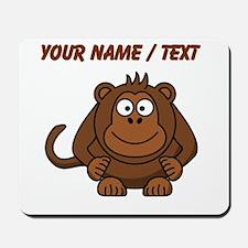Custom Cartoon Monkey Mousepad