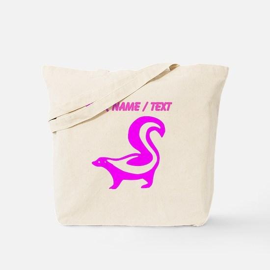 Custom Pink Skunk Tote Bag