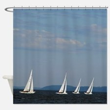 Bellingham Bay Boat Races Shower Curtain
