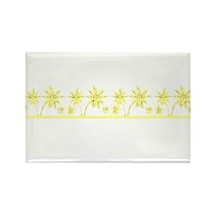 Florida Yellow Palms Rectangle Magnet (10 pack)