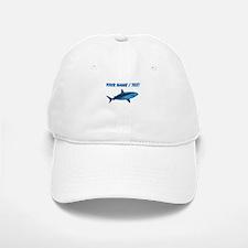 Custom Blue Bull Shark Baseball Baseball Cap