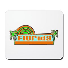 Florida Green Palms Mousepad