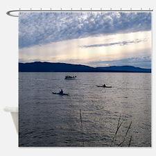 Kayaking On Bellingham Bay Shower Curtain