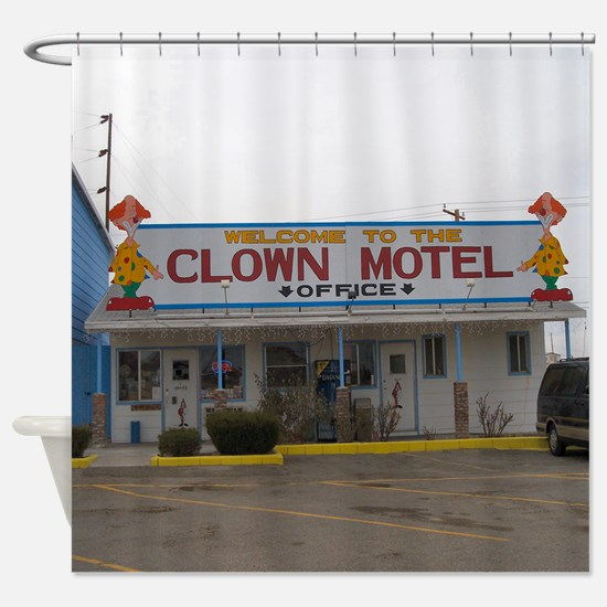 Clown Motel Shower Curtain