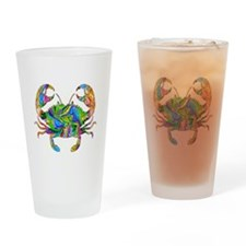 Crabby Drinking Glass