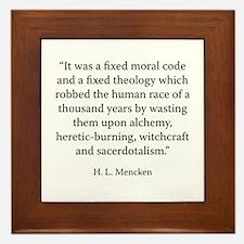 The Philosophy of Friedrich Nietzsche Framed Tile