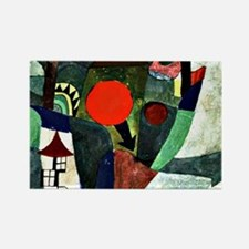 Paul Klee art - With the Setting  Rectangle Magnet