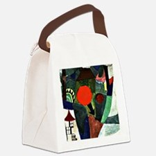 Paul Klee art - With the Setting  Canvas Lunch Bag