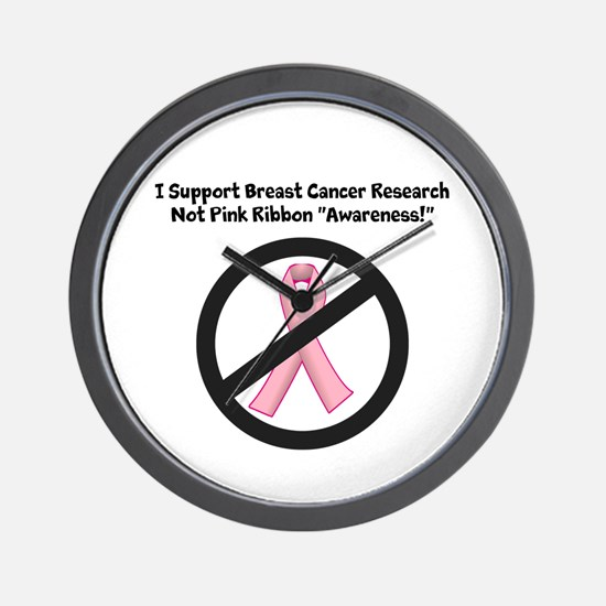 Breast Cancer - Support Research, Not Ribbons Wall
