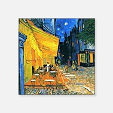 "Van Gogh - Cafe Terrace Square Sticker 3"" x 3"""
