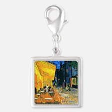 Van Gogh - Cafe Terrace Silver Square Charm