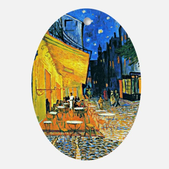 Van Gogh - Cafe Terrace Oval Ornament